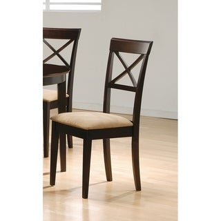 Coaster Company Brown Cross Back Cappuccino Chair