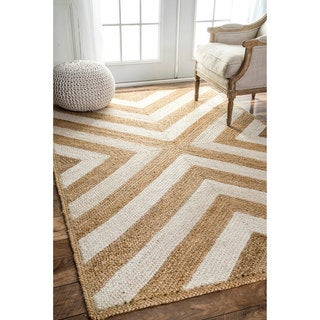 nuLOOM Patterned Chevron Jute Natural Rug (9' x 12')