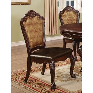 Coaster Company Home Furnishings Side Chair (Set of 2), Dark Cherry