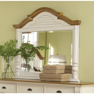 "Coaster Company Brown and White Wood Framed Mirror - 46.50"" x 3.25"" x 44.25"""