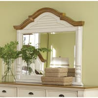 Coaster Company Brown and White Wood Framed Mirror