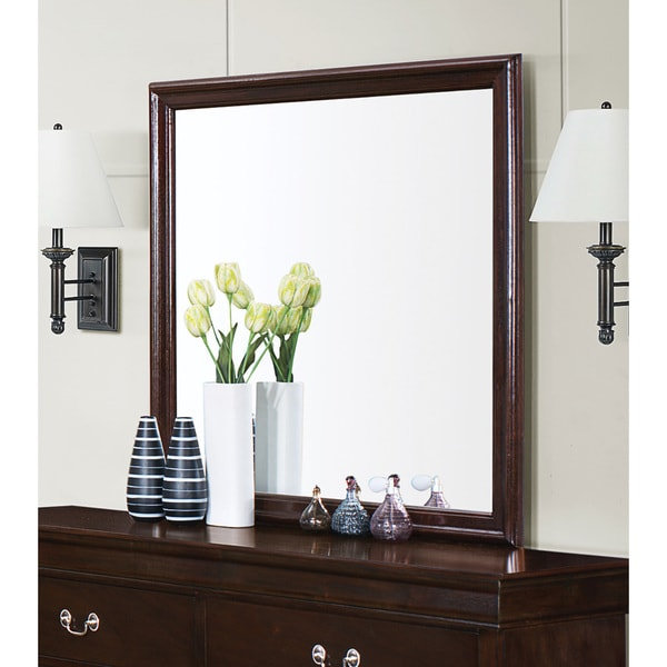 Coaster Company Louis Phillipe Collection Cappuccino Wood Wall Mirror