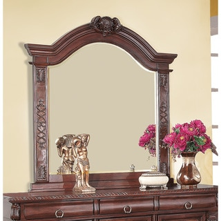 Grand Prado Collection Red Wood Wall Mirror
