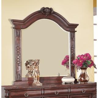 Coaster Company Grand Prado Collection Red Wood Wall Mirror