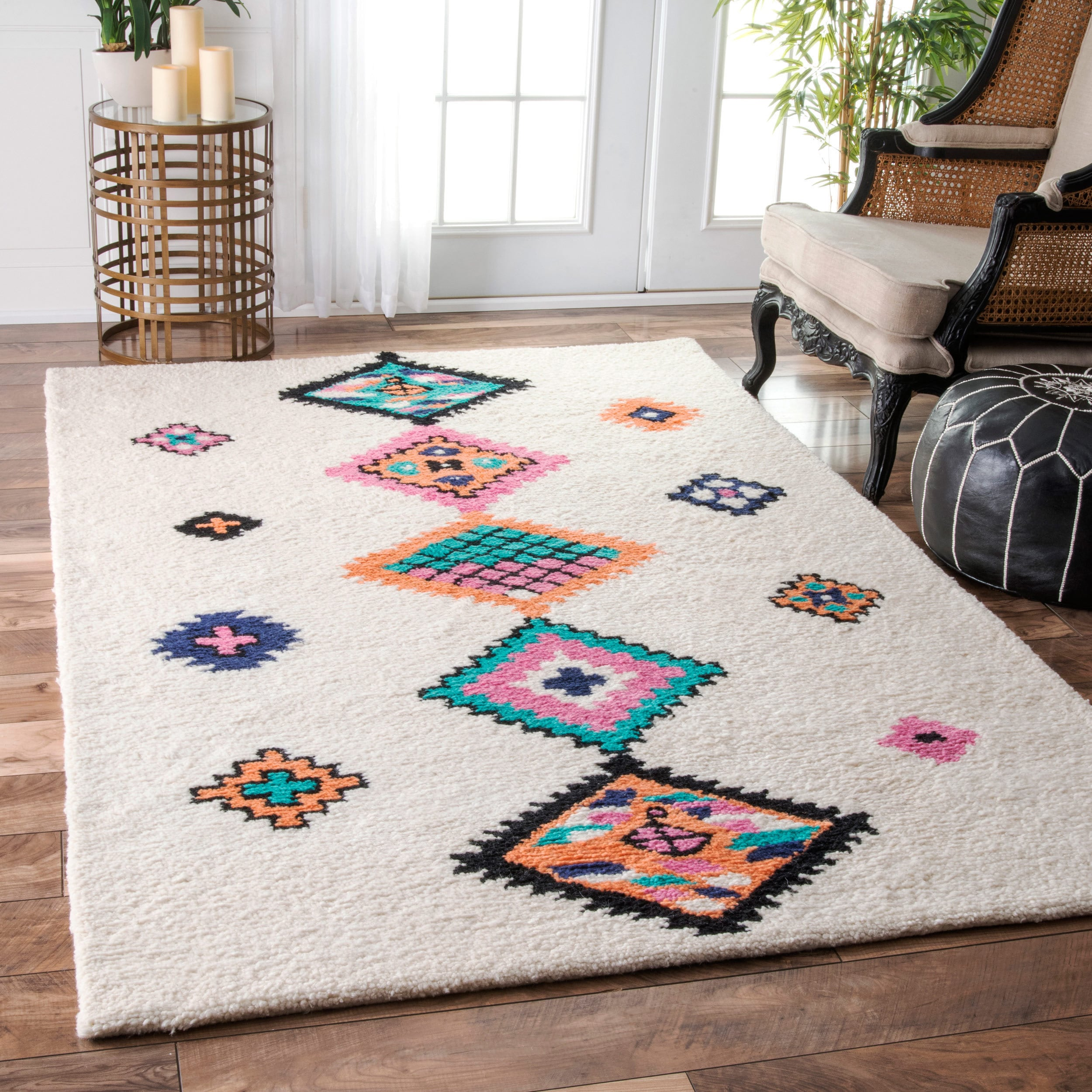 Shop Nuloom Handmade Wool Tribal Diamond Multi Rug 7 6 X