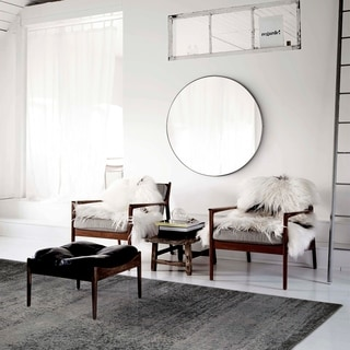 Monocle Framed Round Wall Mirror