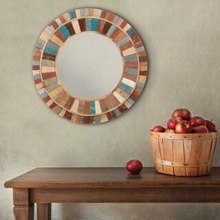 Hayloft Framed Round Wall Mirror