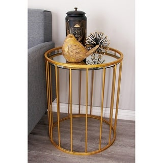 Metal Mirror Accent Table (Set of 3)