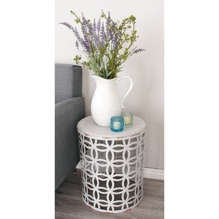 Metal Wood Accent Table (Set of 3)