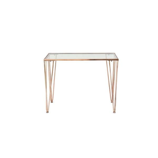Metal Gl Copper Console Table 39 Inches Wide X 31 High