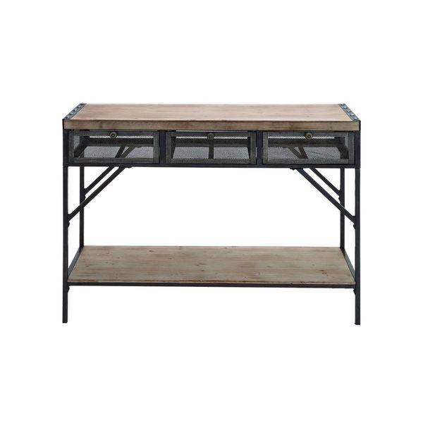 Wood metal console 43 inches wide x 32 inches high for 24 wide console table