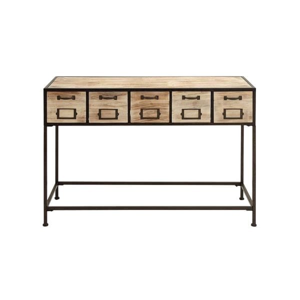 Wood console table 47 inches wide x 33 inches high for 10 inch high table