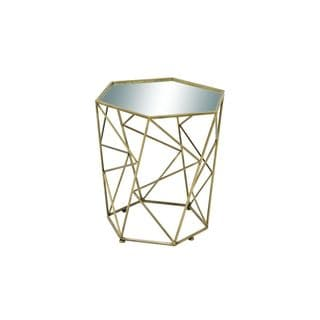 Metal Mirror Accent Table (18 inches wide x 22 inches high)
