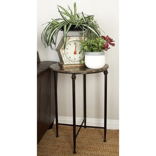 Metal Marble Accent Table (26 inches high x 18 inches wide)