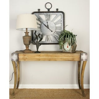 Wood Console Table (54 inches wide x 32 inches high)