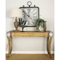 Industrial 32 x 54 Inch Rectangular Wooden Console Table by Studio 350