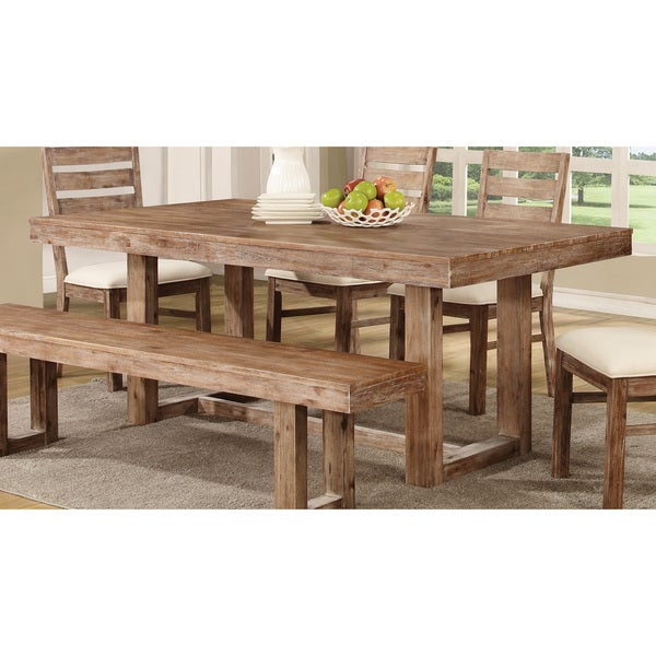 Coaster Company Weathered Wood Dining Table Brown