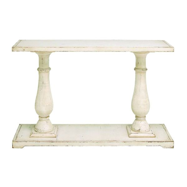 Wood console table 48 inches wide x 32 inches high for 10 inch high table