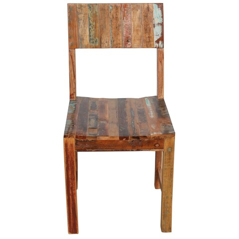 Handmade Wanderloot Brooklyn Reclaimed Wood Dining Chair (India)