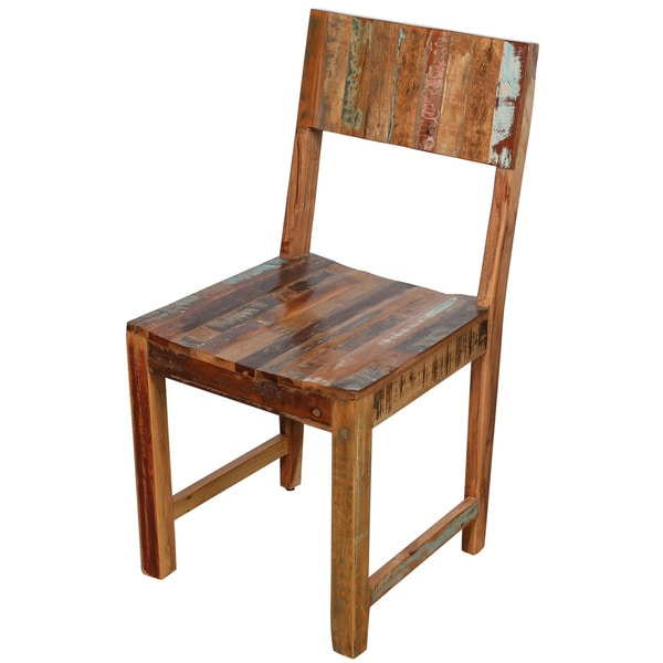 Handmade Wanderloot Brooklyn Reclaimed Wood Dining Chair