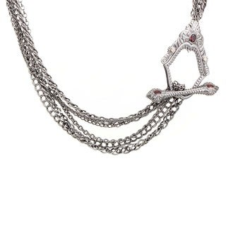 Stephen Webster Jewels Verne Sterling Silver & Garnet Necklace