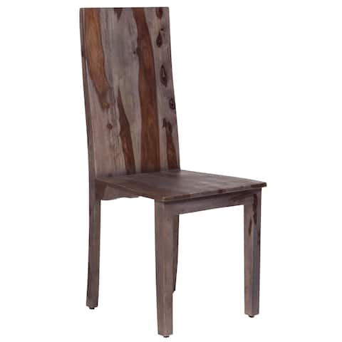 "Handmade Wanderloot Big Sur Grey Wash Solid Sheesham Dining Chair (India) - 41""H x 19.5""D x 17.5""W"