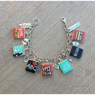 Love to Teach Charm Bracelet