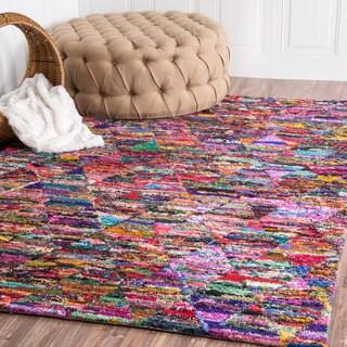 nuLOOM Handmade Trellis Rag Multi Rug (5' x 8')
