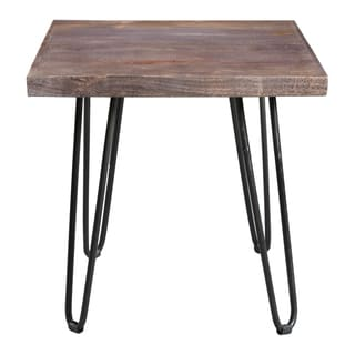 Wanderloot Portland End Table with Hairpin Legs