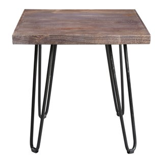 "Handmade Portland End Table - 24"" x 24"" x 24"" (India)"