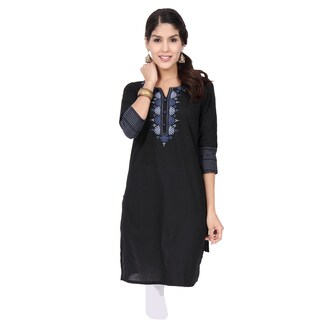 Handmade In-Sattva Ethnicity Women's Delicate Embroidery Kurta Tunic (India)