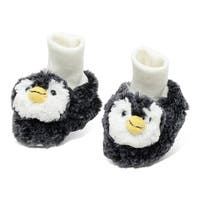Puzzled Super Soft Plush Penguin Baby Shoes