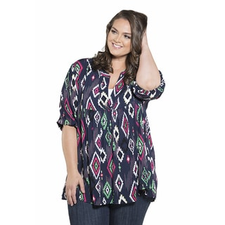 Sealed with a Kiss Women's Plus Size Printed Emmylou Tunic 2