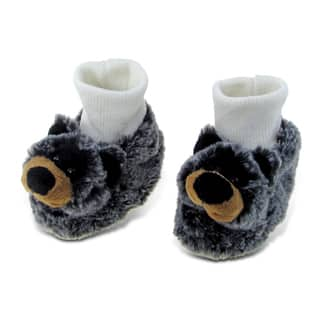Puzzled Super Soft Plush Black Bear Baby Shoes|https://ak1.ostkcdn.com/images/products/12204708/P19051803.jpg?impolicy=medium