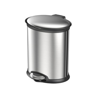 Metal Oval 5-Liter Trash Can