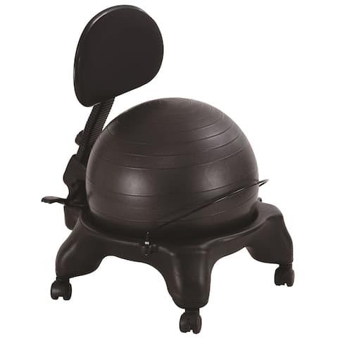 AeroMat Adjustable-fit Ball Chair - Black