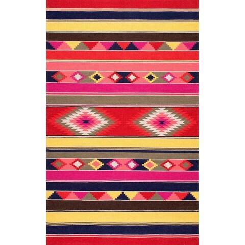 nuLOOM Multi Handmade Flatweave Tribal Area Rug