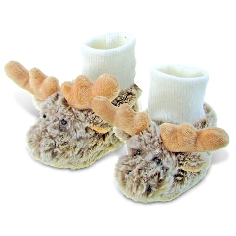 Puzzled Super Soft Plush Moose Baby Shoes