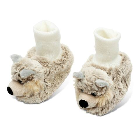 Puzzled Super Soft Plush Wolf Baby Shoes