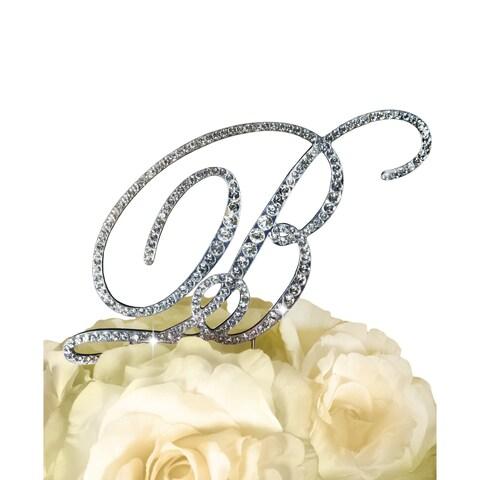 Victorian Rhinestone Letter 'B' Wedding Cake Topper