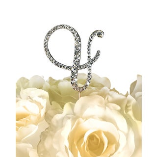 Victorian 'Ampersand' Rhinestone Wedding Cake Topper