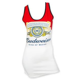Budweiser Women's Red/White Label Cotton/Spandex Tank Top|https://ak1.ostkcdn.com/images/products/12204795/P19051910.jpg?impolicy=medium