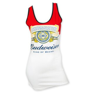 Budweiser Women's Red/White Label Cotton/Spandex Tank Top (2 options available)