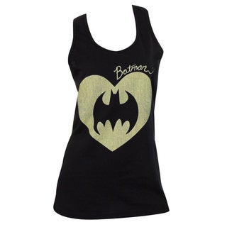 Women's Batman Heart Black Tank Top