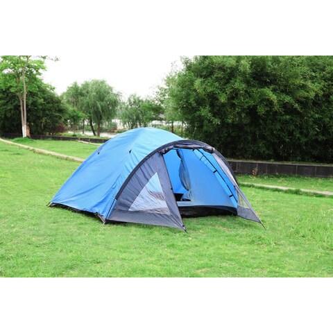 Semoo D-shape Door 3-4 Person 4-Season Lightweight Family Camping Tent