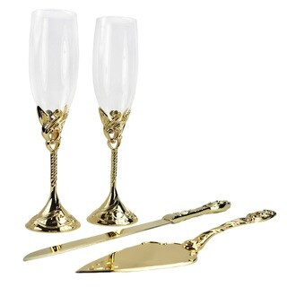 Unik Occasions Toasting Glasses and Cake Serving Set