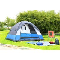 Semoo Blue Polyester Water-resistant 5-person 3-season Lightweight Family Dome Tent