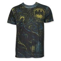 Batman Men's Sublimated Starry Knight Short-sleeved T-shirt