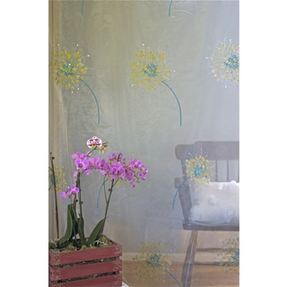 Debage Inc. Embroidered Flower Dew Curtains (Set of 2)