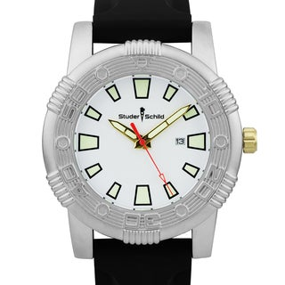 Studer Schild Men's Savage oversized 50mm sport watch, strong lume, Miyota movement